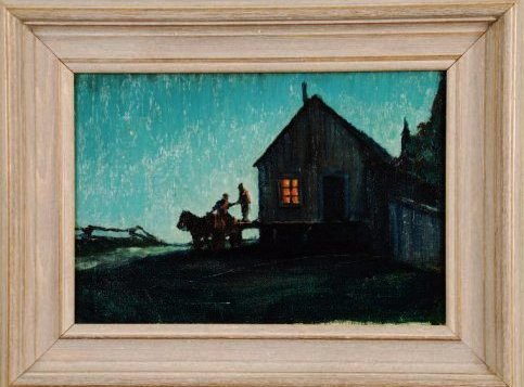 RARE FREDERIC REMINGTON (1861-1909)  OIL ON CANVAS