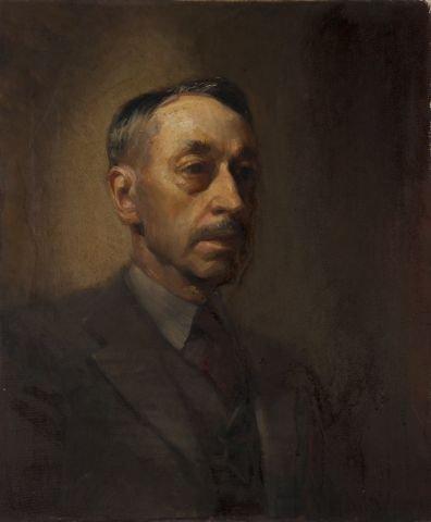 JOHN W. HATCH (1919-1998) Portrait of Artist's Father