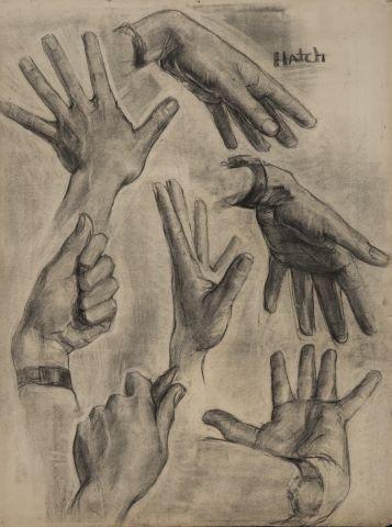 JOHN W. HATCH (1919-1998) Early Figure Study