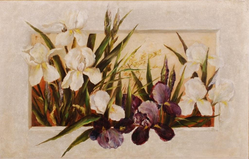 AMERICAN SCHOOL (19th c) Iris Tromp L'oeil""