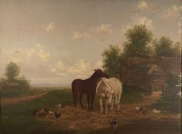 BRITISH SCHOOL (19th c)  Horses