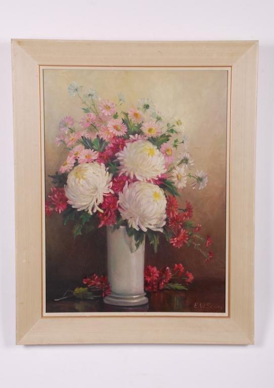AMERICAN SCHOOL (20th c) Still Life of Cut Flowers - 2