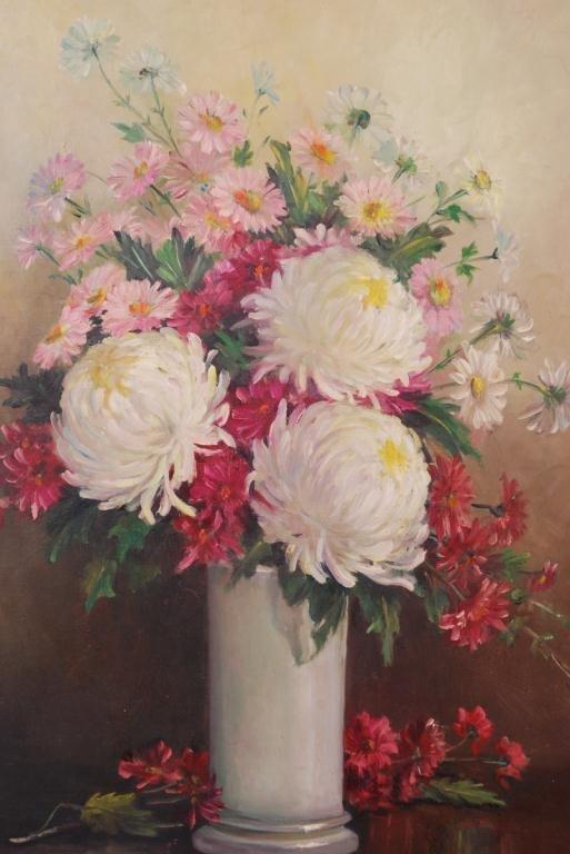 AMERICAN SCHOOL (20th c) Still Life of Cut Flowers - 4