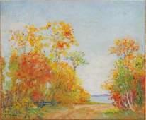 AMERICAN SCHOOL (20th c) Autumn Landscape