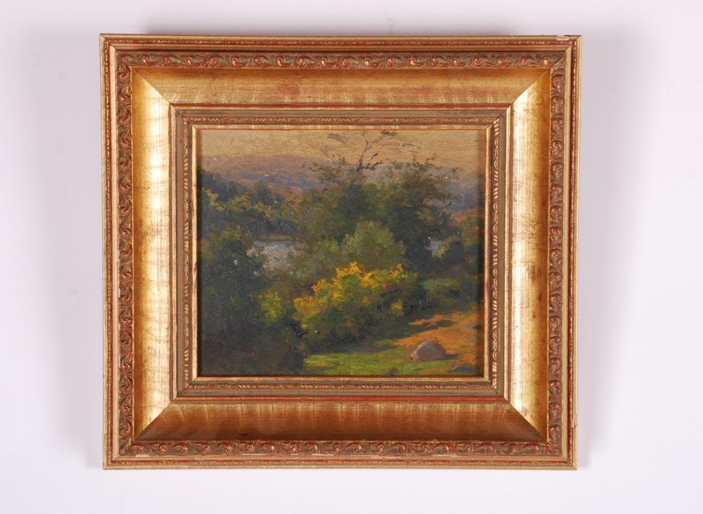 AMERICAN SCHOOL (20th c) Landscape with Blue Hill - 2