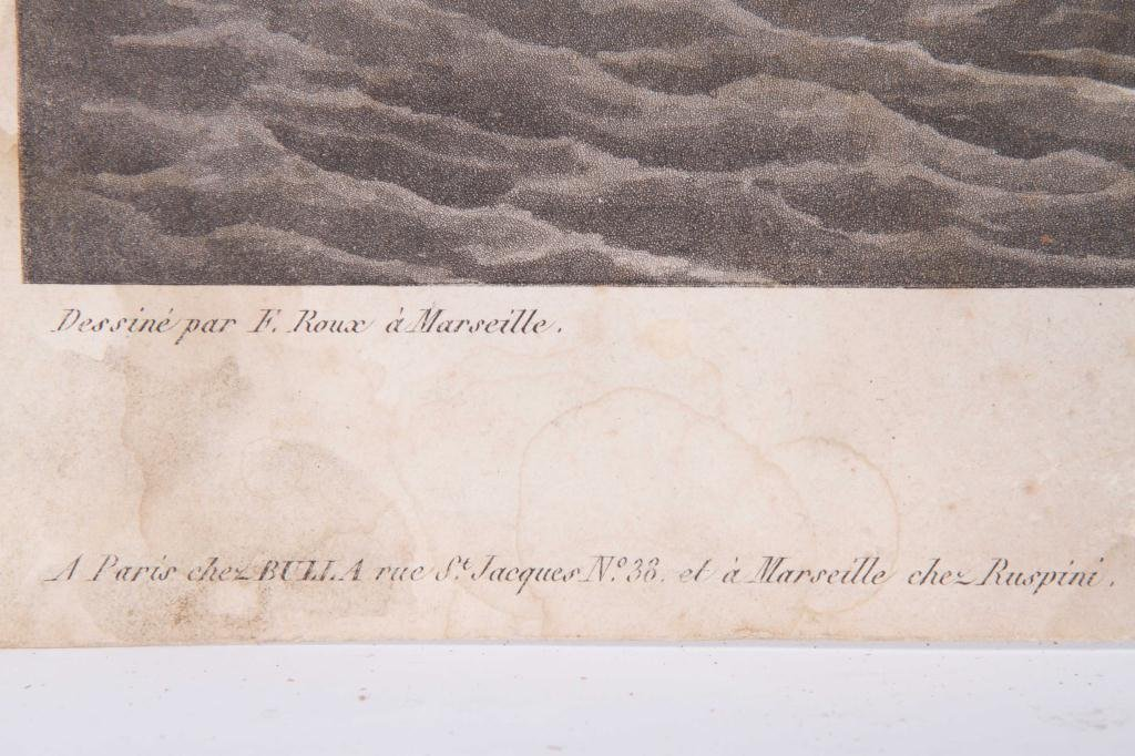 (2) 1824 FRENCH PRINTS OF ENGLISH AND US FRIGATES - 4