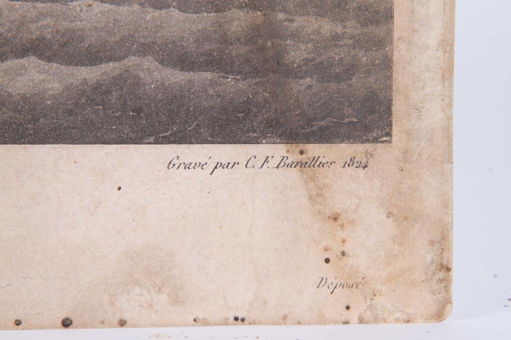 (2) 1824 FRENCH PRINTS OF ENGLISH AND US FRIGATES - 6