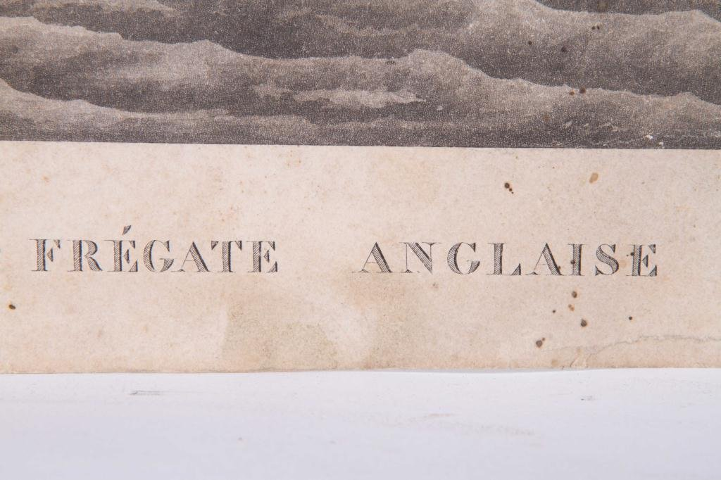 (2) 1824 FRENCH PRINTS OF ENGLISH AND US FRIGATES - 7