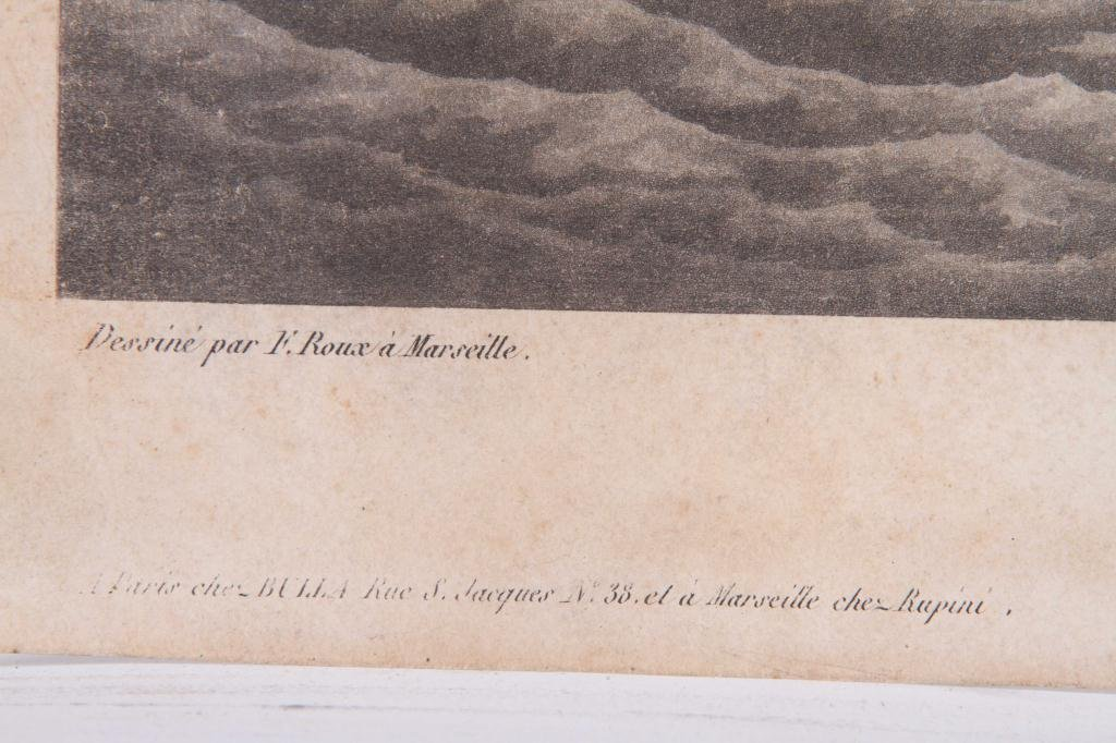 (2) 1824 FRENCH PRINTS OF ENGLISH AND US FRIGATES - 8