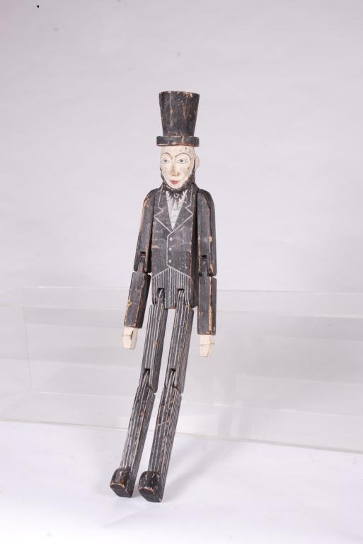 CARVED AND PAINTED ARTICULATED ABE LINCOLN FIGURE - 2