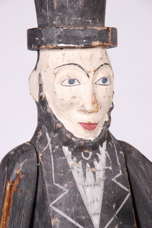 CARVED AND PAINTED ARTICULATED ABE LINCOLN FIGURE - 6