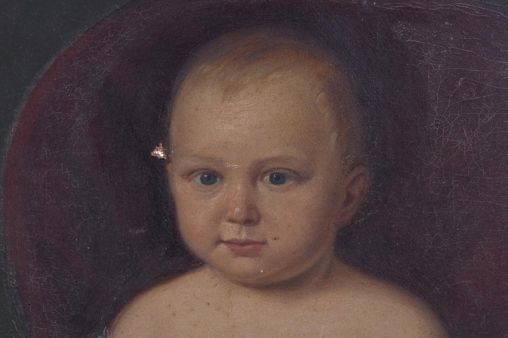 (19th c) PRIMITIVE PORTRAIT OF A TODDLER - 5
