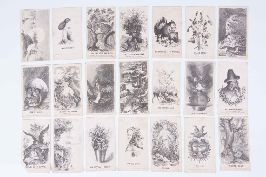 (21) LOUIS PRANG'S MAGIC CARDS 1865