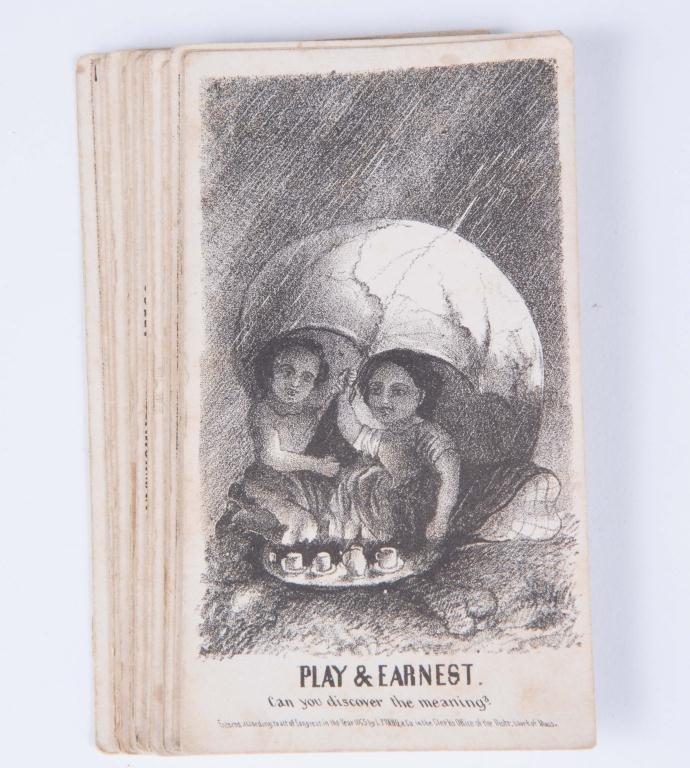 (21) LOUIS PRANG'S MAGIC CARDS 1865 - 3