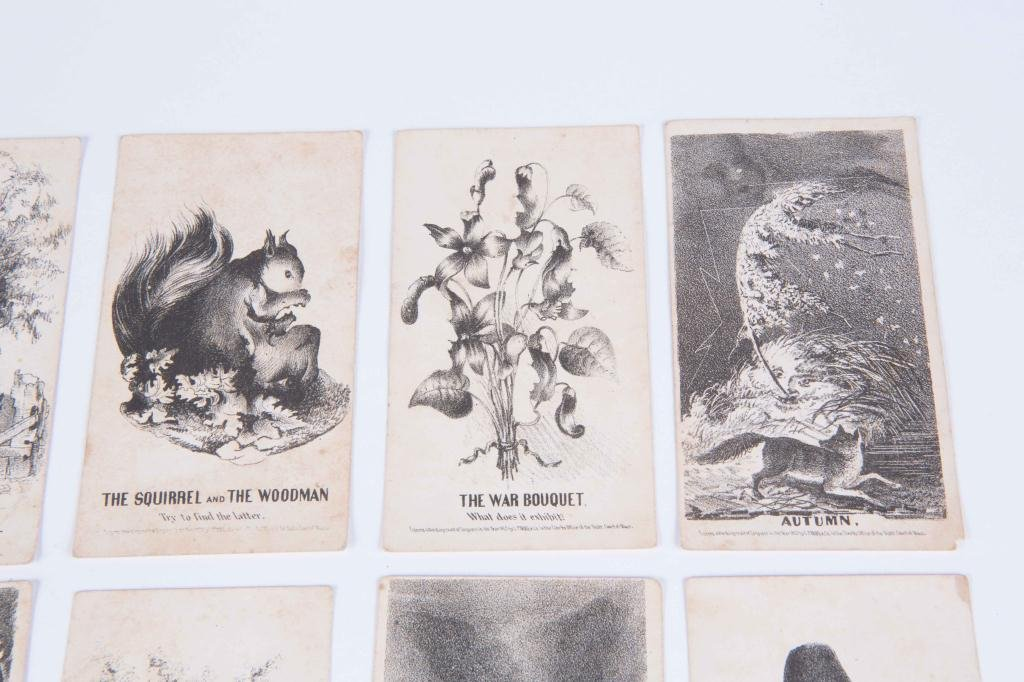 (21) LOUIS PRANG'S MAGIC CARDS 1865 - 4
