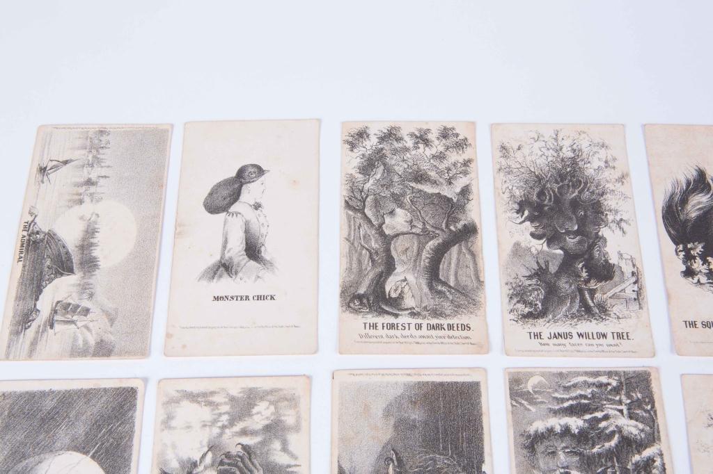 (21) LOUIS PRANG'S MAGIC CARDS 1865 - 5