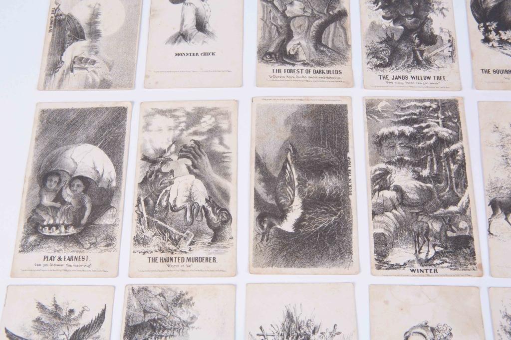 (21) LOUIS PRANG'S MAGIC CARDS 1865 - 6