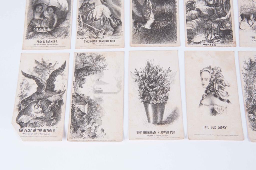 (21) LOUIS PRANG'S MAGIC CARDS 1865 - 7