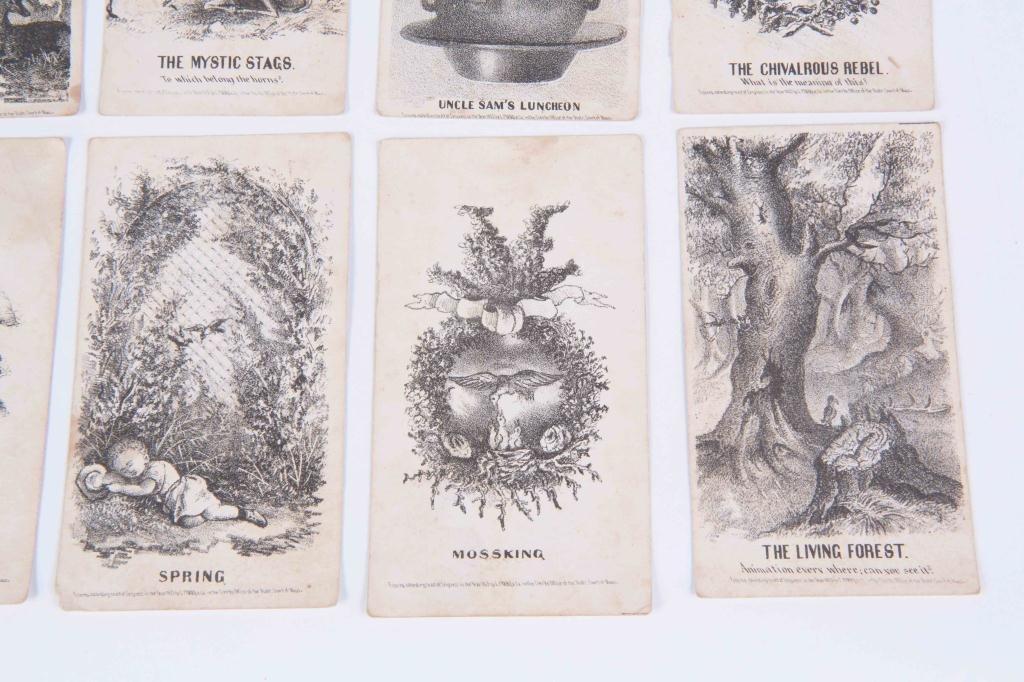 (21) LOUIS PRANG'S MAGIC CARDS 1865 - 8