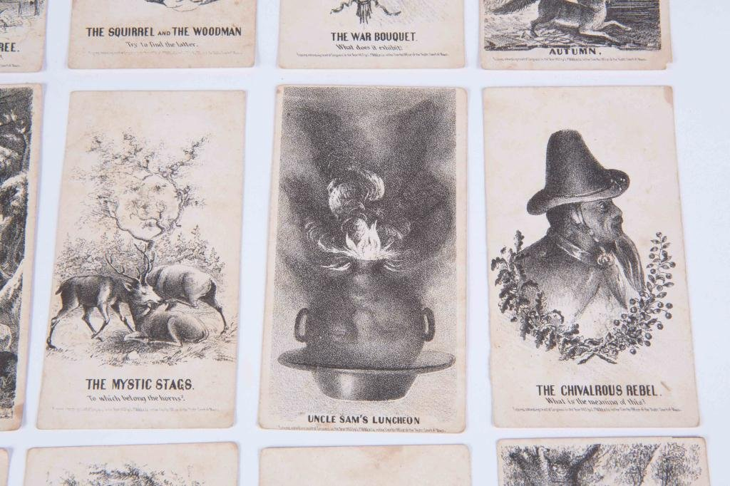 (21) LOUIS PRANG'S MAGIC CARDS 1865 - 9