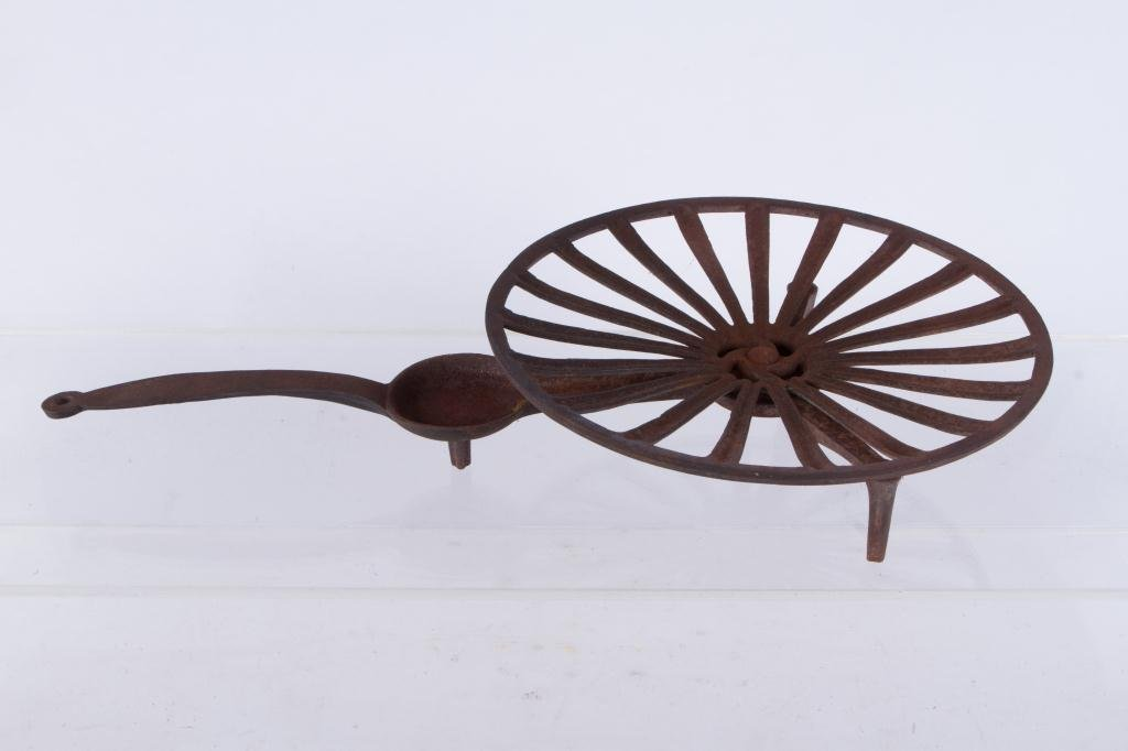 CAST IRON ROTATING GRID IRON WITH FAT COLLECTOR