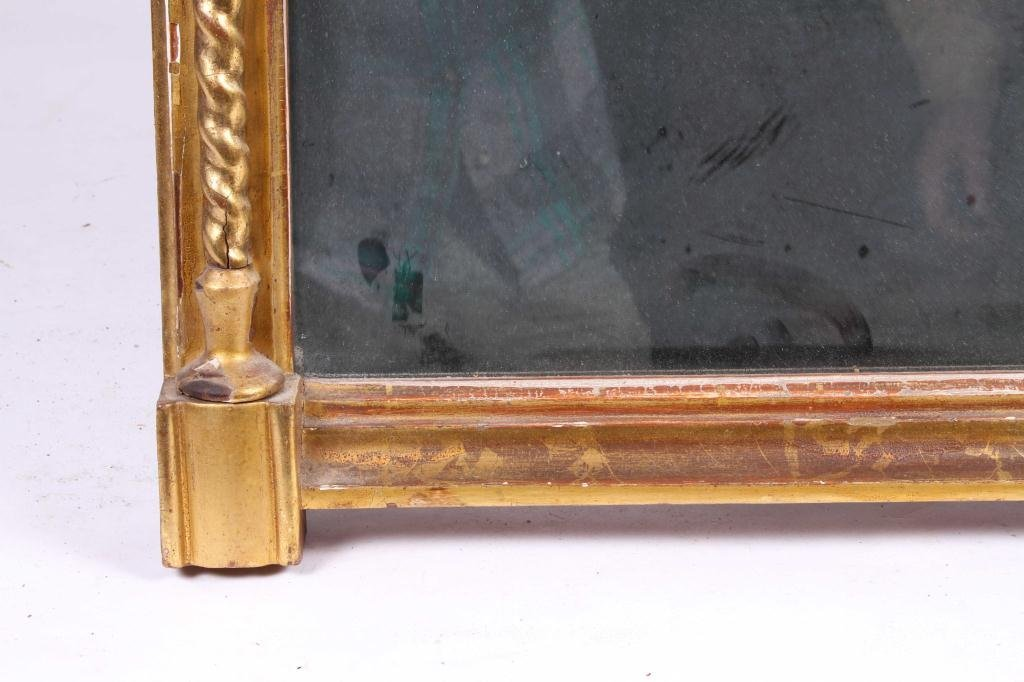 (Early 19th c) GILT, CARVED & TURNED LOOKING GLASS - 3