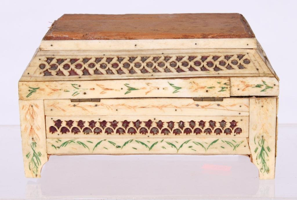 (19th c) ANGLO INDIAN SEWING BOX - 2
