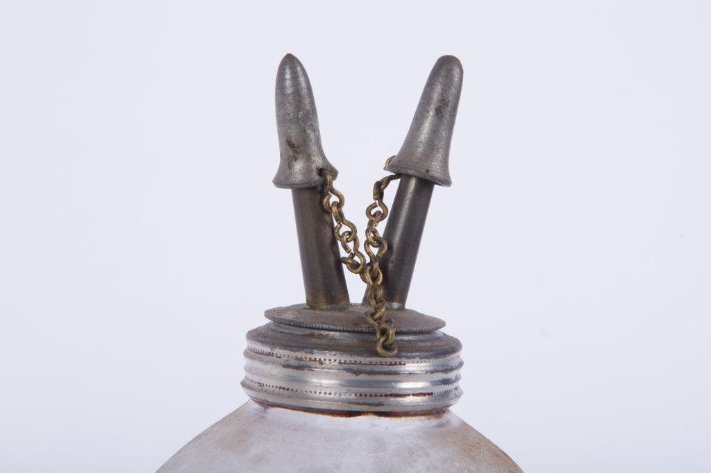 TWO (19th c) BLOWN MOLDED FLUID LAMPS - 4