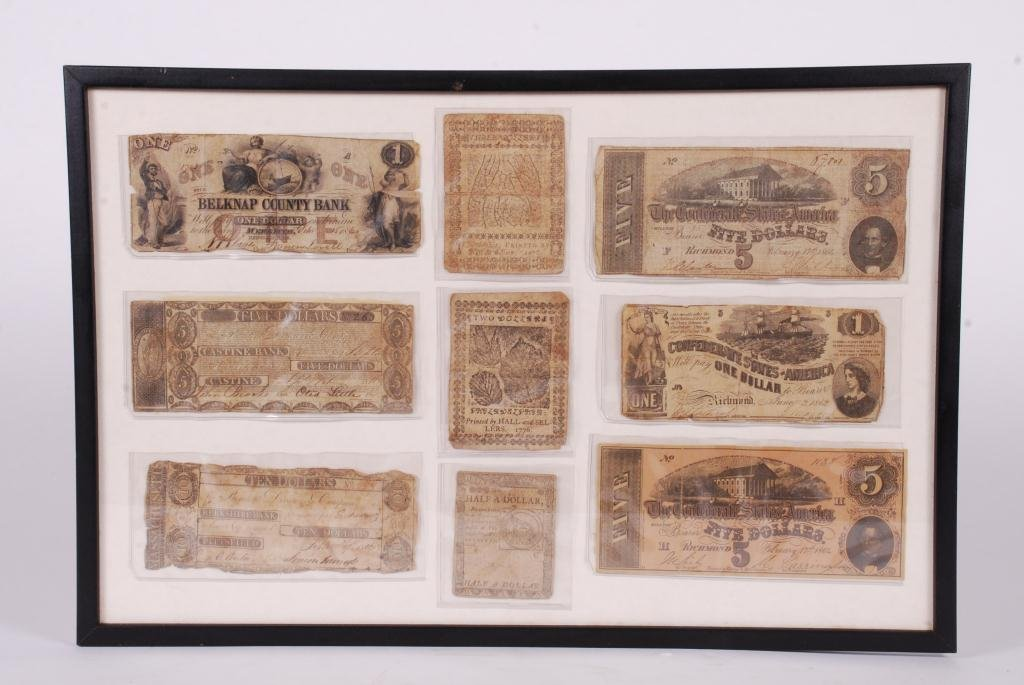 COMPOSITE OF OBSOLETE (18th/ 19th c) CURRENCY