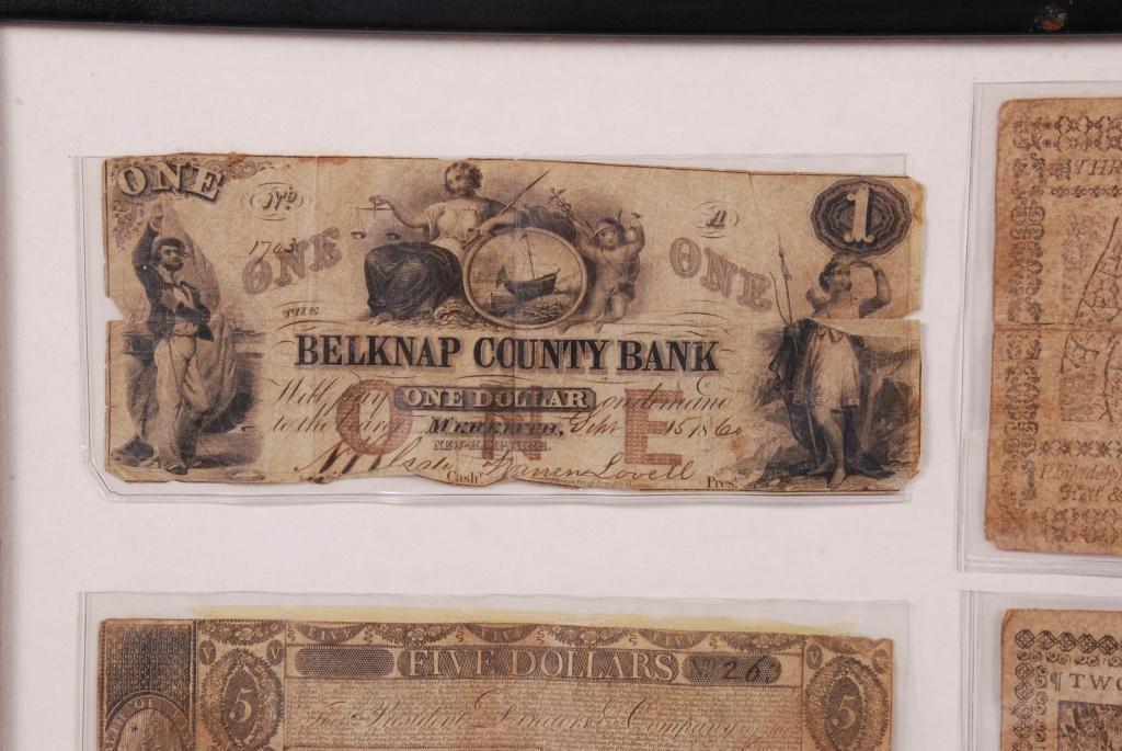 COMPOSITE OF OBSOLETE (18th/ 19th c) CURRENCY - 2