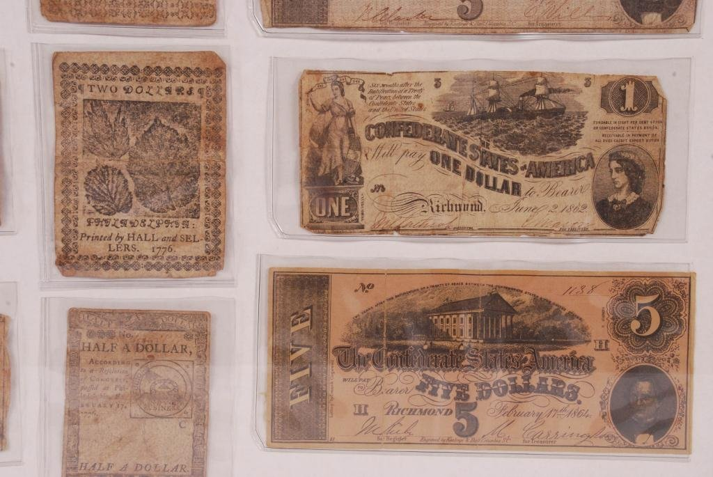 COMPOSITE OF OBSOLETE (18th/ 19th c) CURRENCY - 3