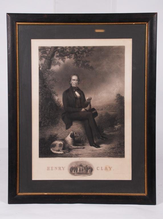 HENRY CLAY STEEL ENGRAVING BY JOHN W. DODGE 1843
