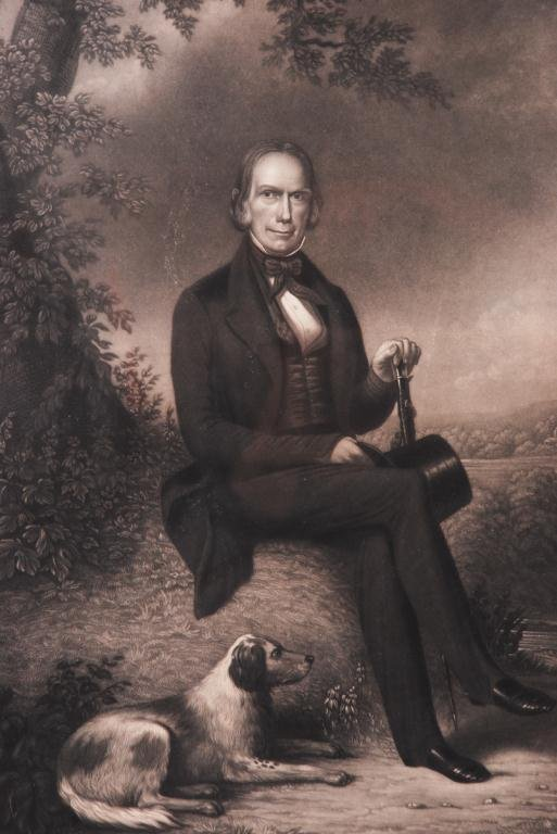 HENRY CLAY STEEL ENGRAVING BY JOHN W. DODGE 1843 - 4