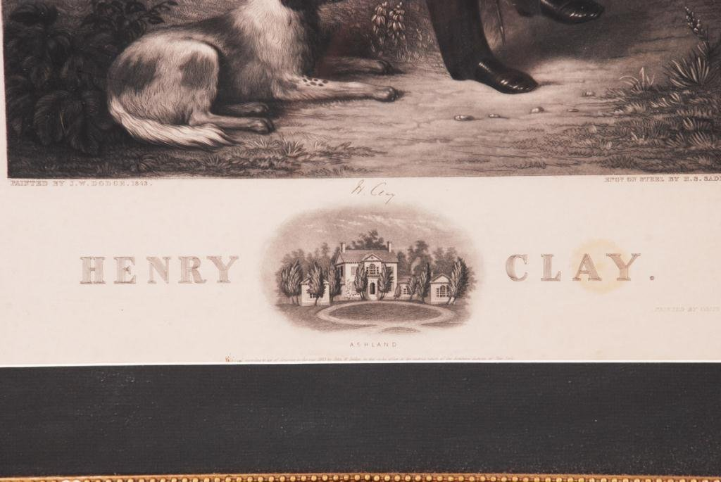 HENRY CLAY STEEL ENGRAVING BY JOHN W. DODGE 1843 - 5