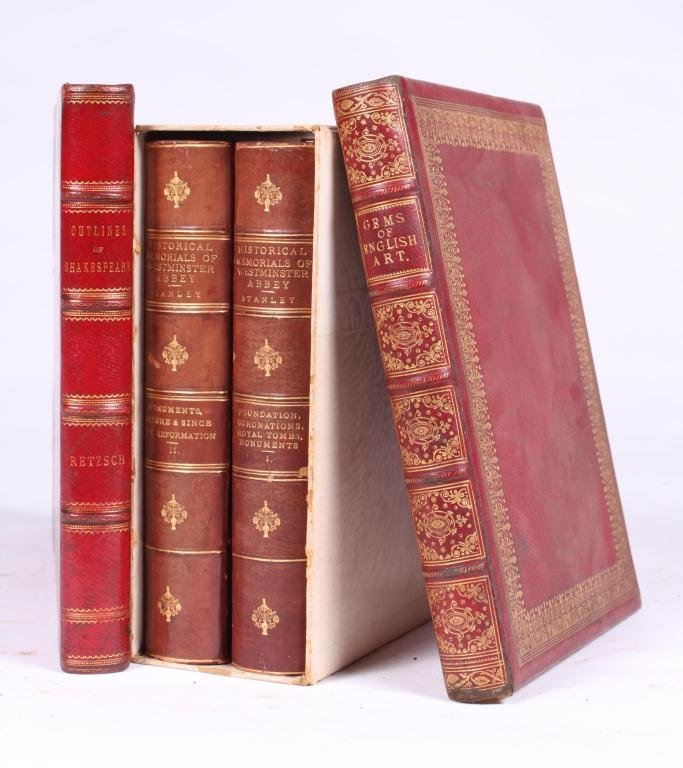 2LEATHER BOUND BOOKS WITH BRITISH SUBJECTS