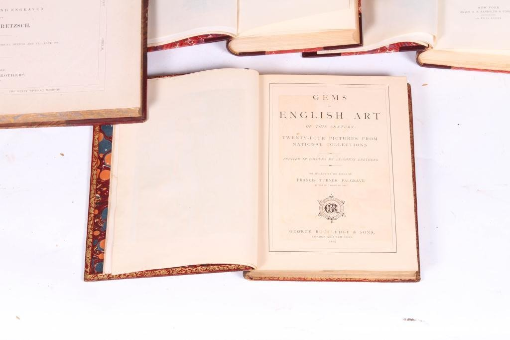 2LEATHER BOUND BOOKS WITH BRITISH SUBJECTS - 2