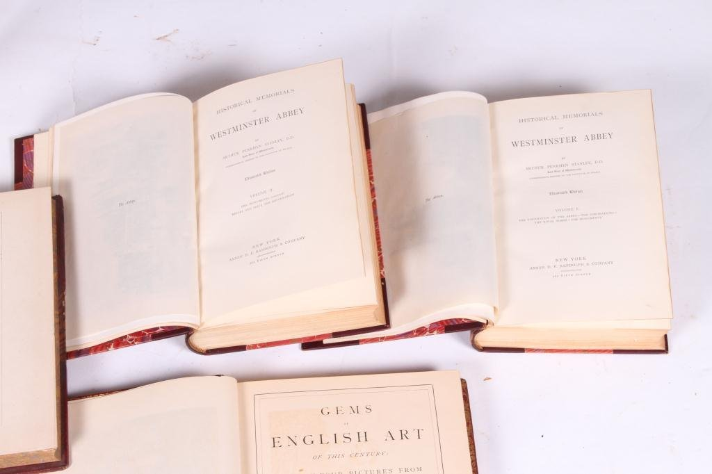 2LEATHER BOUND BOOKS WITH BRITISH SUBJECTS - 4