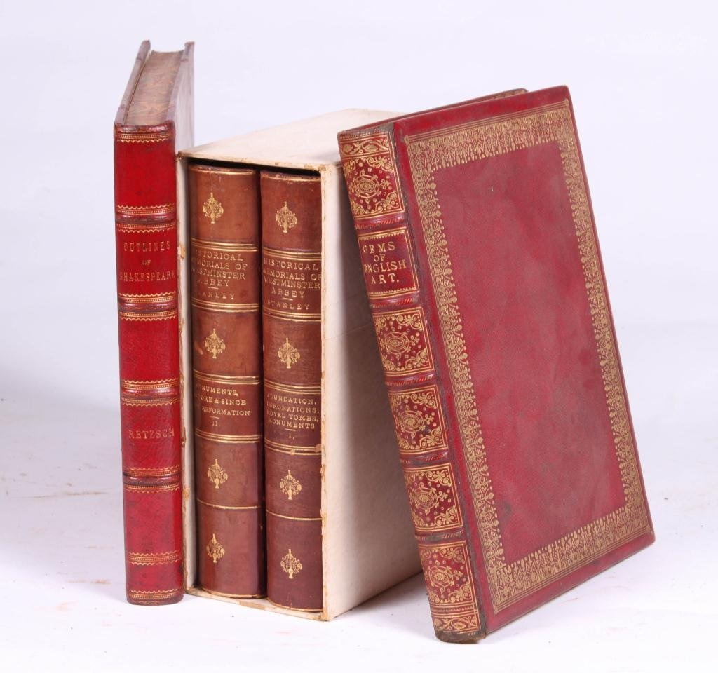 2LEATHER BOUND BOOKS WITH BRITISH SUBJECTS - 5