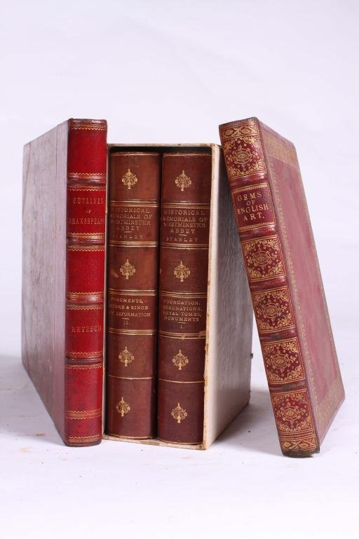 2LEATHER BOUND BOOKS WITH BRITISH SUBJECTS - 6