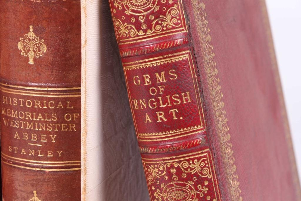 2LEATHER BOUND BOOKS WITH BRITISH SUBJECTS - 7