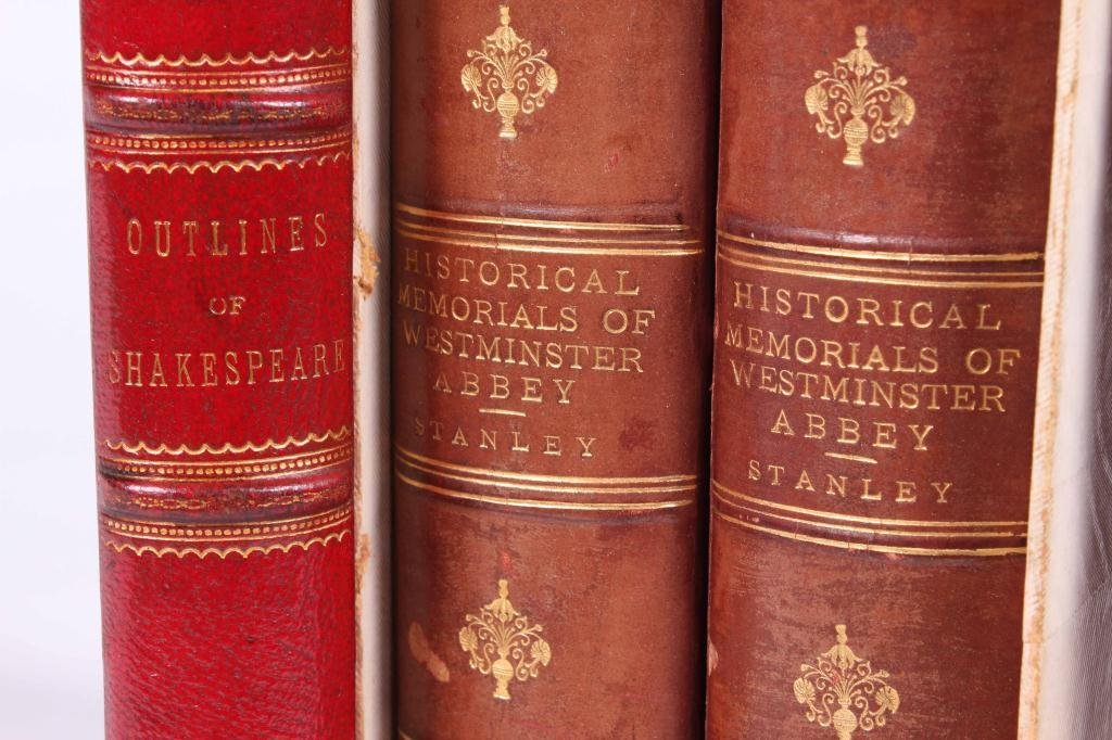 2LEATHER BOUND BOOKS WITH BRITISH SUBJECTS - 8