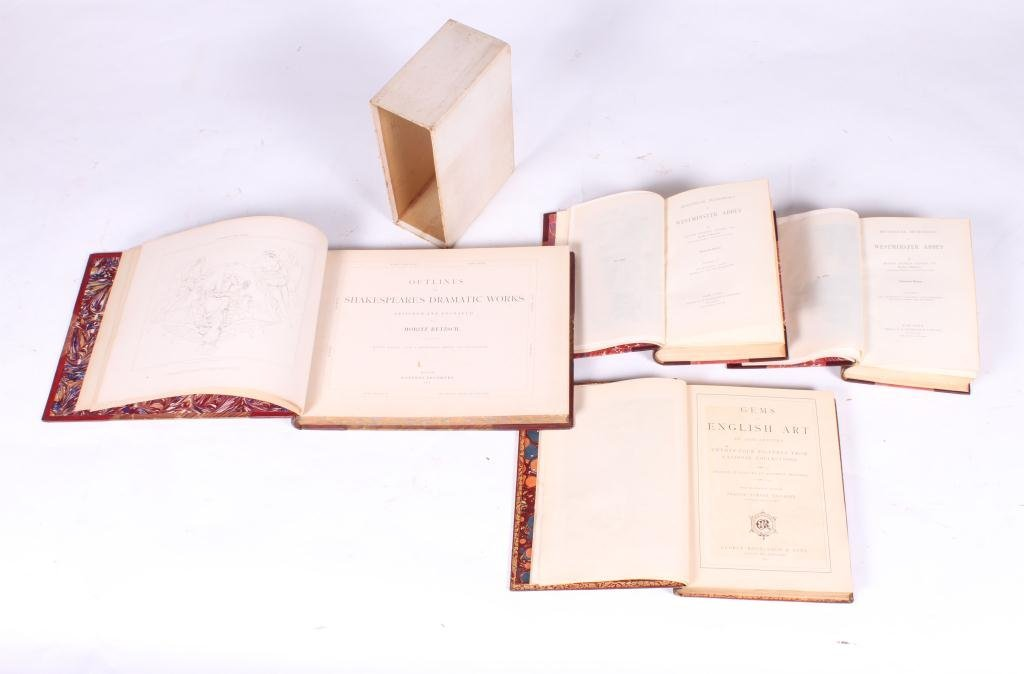 2LEATHER BOUND BOOKS WITH BRITISH SUBJECTS - 9