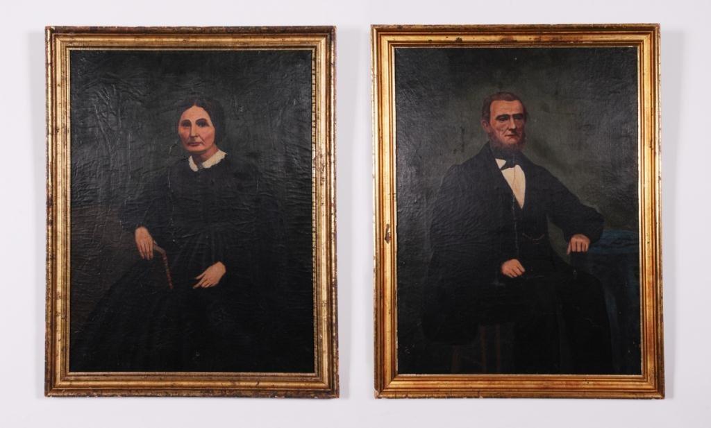 AMERICAN SCHOOL (19th c) Portraits