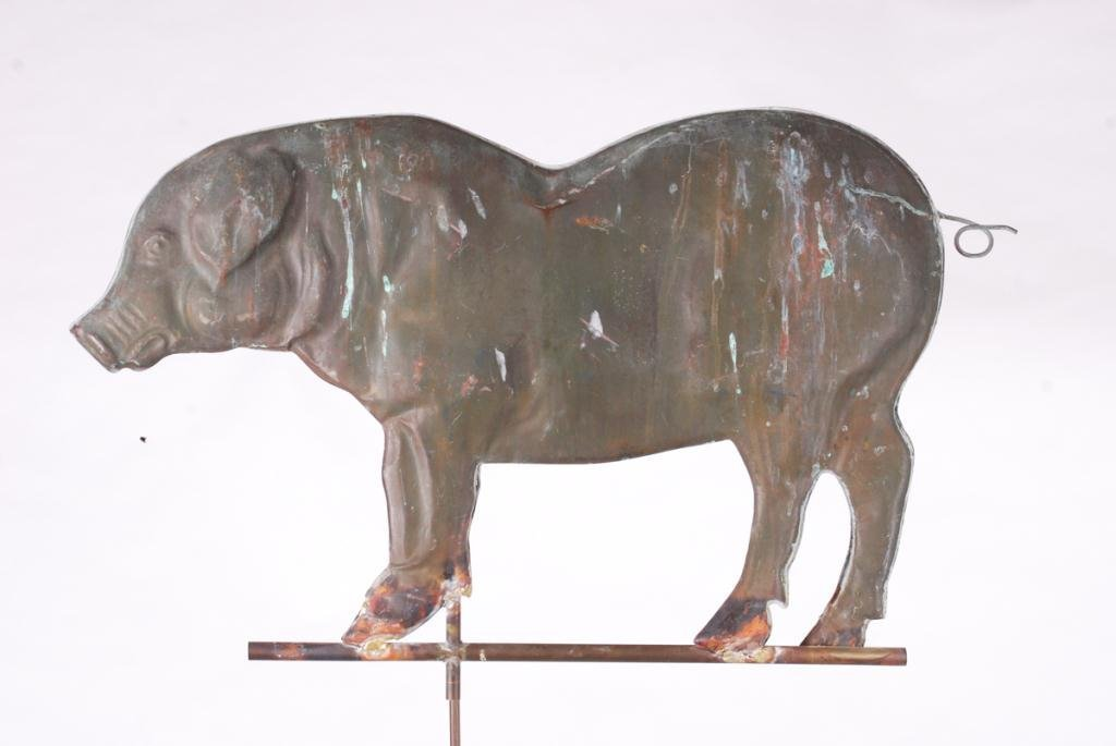(20th c) PIG WEATHERVANE