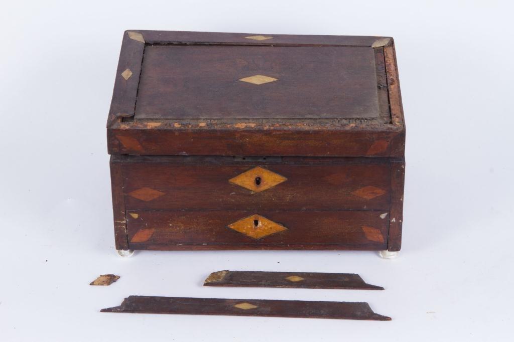 (19th c) INLAID MAHOGANY ARTIST BOX - 3