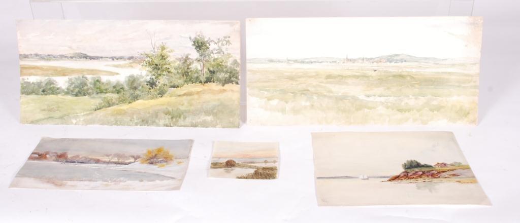 AMERICAN SCHOOL (19th c) Coastal Views