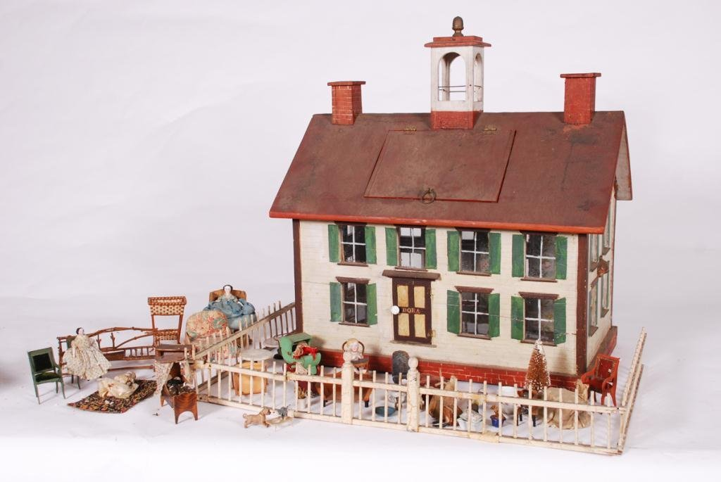 DOROTHY WHITNEY'S DOLLHOUSE LOADED w FURNISHINGS