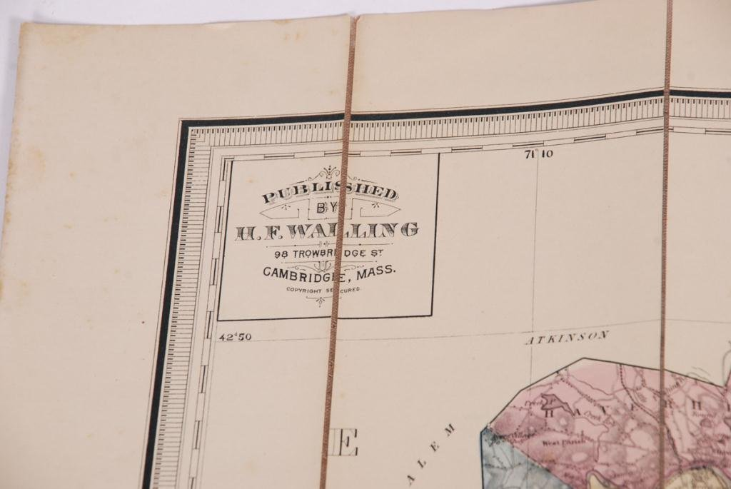 c. 1880 W.F. WALLING MAP of ESSEX COUNTY - 4