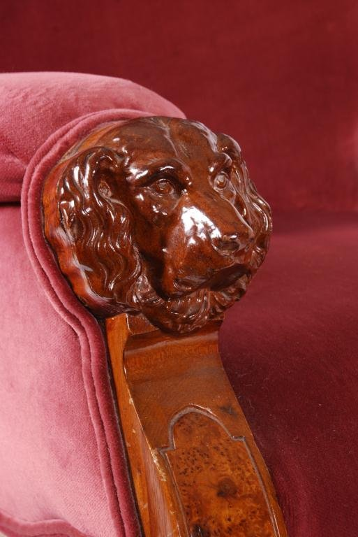 VICTORIAN PLATFORM ROCKER with DOG HEAD ARMS - 6