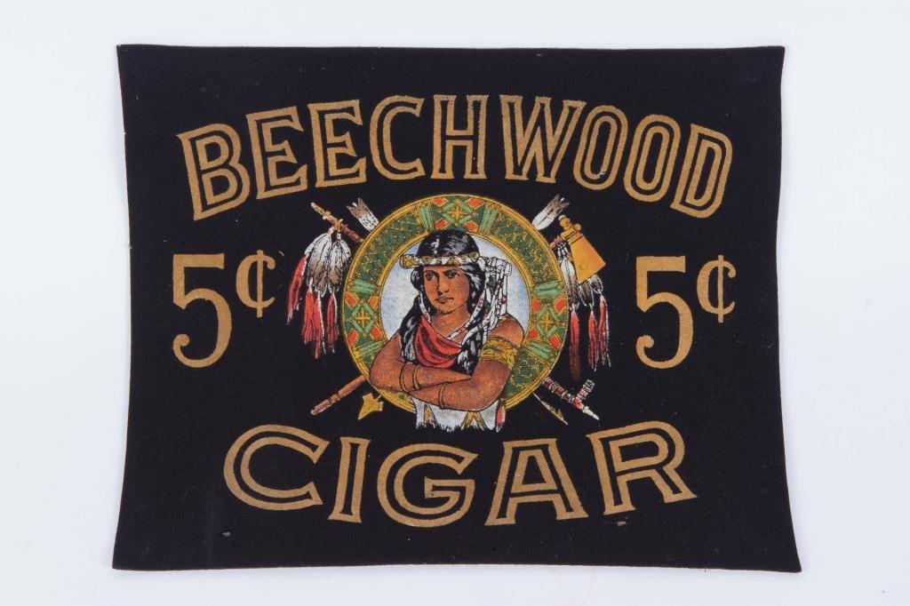 BEECHWOOD 5 cent CIGAR ADVERTISING PIECE